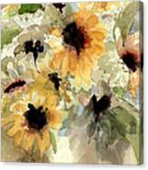 Sunflower Impressions Canvas Print
