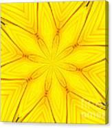 Sunflower Kaleidoscope 1 Canvas Print