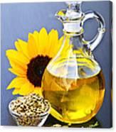 Sunflower Oil Bottle Canvas Print