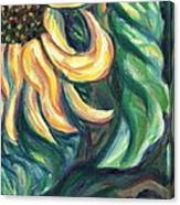 Sunflower One Panel Four Of Four Canvas Print
