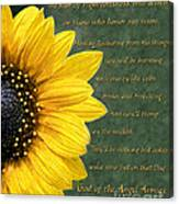 Sunflower Scripture Canvas Print