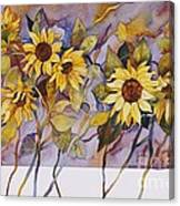 Sunflower Stems Canvas Print