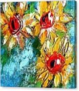 Sunflower Study Painting Canvas Print