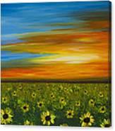Sunflower Sunset - Flower Art By Sharon Cummings Canvas Print