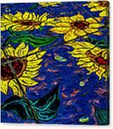 Sunflower Tiled Oil Painting Canvas Print
