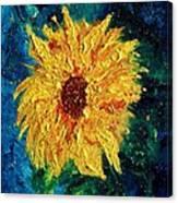 Sunflower - Tribute To Vangogh Canvas Print