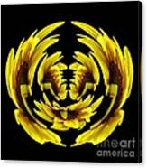 Sunflower With Warp And Polar Coordinates Effects Canvas Print