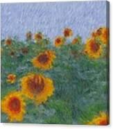 Sunflowerfield Abstract Canvas Print