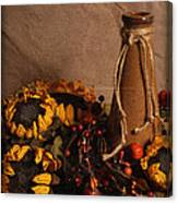 Sunflowers And Vase Canvas Print