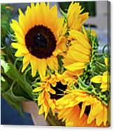 Sunflowers At Market Canvas Print