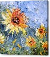 Sunflowers In Bloom Canvas Print