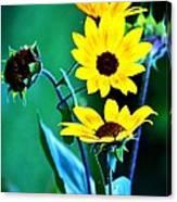 Sunflowers Portrait Canvas Print