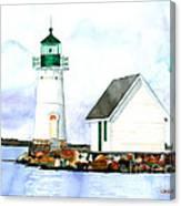 Sunken Rock Lighthouse Ny Canvas Print