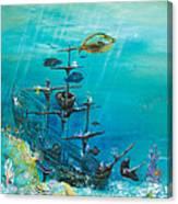 Sunken Ship Habitat Canvas Print