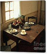 Sunlight On Dining Table Canvas Print