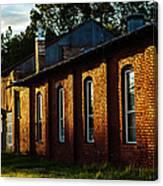 Sunlight On Old Brick Building - Ellensburg - Washington Canvas Print