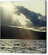 Sunlit Rays Before Sunset Canvas Print
