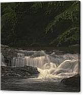 Early Morning Sunlit Waterfall Canvas Print