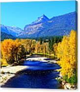 Sunny Autumn Day On A Montana River Canvas Print