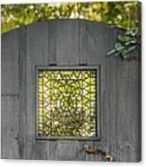 Sunny Garden Gate In Charleston Canvas Print
