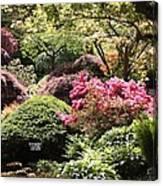 Sunny Japanese Garden Canvas Print