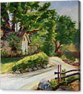 Sunny Lane At Stonycreek Farm For Prints And Greeting Cards And Iphone Covers Canvas Print