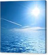 Sunny Ocean Canvas Print