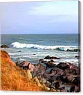 Sunny Ocean Shoreline Canvas Print
