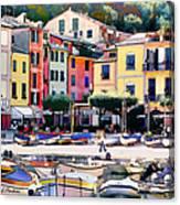 Sunny Portofino - Italy Canvas Print