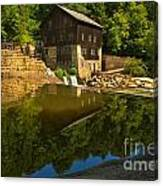 Sunny Refelctions In Slippery Rock Creek Canvas Print
