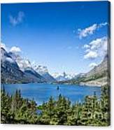 Sunny Saint Mary Lake Canvas Print