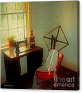 Sunny Sewing Room Canvas Print