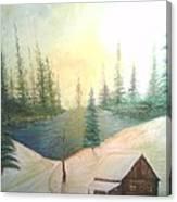 Sunny Snow Canvas Print