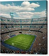 Sunny Soccer Stadium Panorama Canvas Print