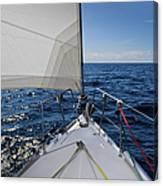 Sunny Yacht Bow Canvas Print