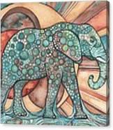 Sunphant Sun Elephant Canvas Print