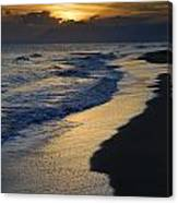 Sunrays Over The Sea Canvas Print
