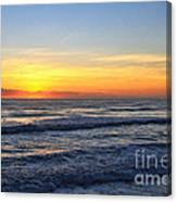 Sunrise And Waves Canvas Print