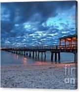 Sunrise At Anglin's Fishing Pier Canvas Print