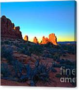 Sunrise At Arches National Park Canvas Print