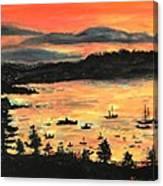 Sunrise At Bar Harbor Maine Canvas Print