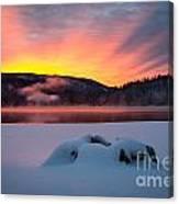 Sunrise At Bass Lake Canvas Print