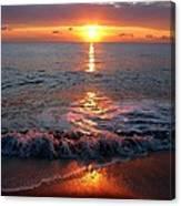 Sunrise At Beach Canvas Print