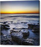 Sunrise At Cave Point Canvas Print