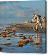 Sunrise At Cocoa Beach Canvas Print