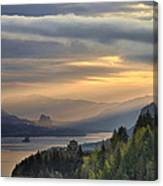Sunrise At Columbia River Gorge Canvas Print