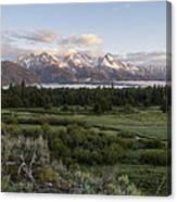 Sunrise At Grand Teton Canvas Print