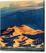 Sunrise At Great Sand Dunes Canvas Print