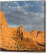 Sunrise At La Sal Mountians Canvas Print