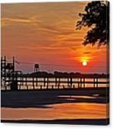 Sunrise At Lake Shelby Canvas Print
